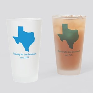 Texas 2nd Amendment Drinking Glass
