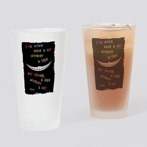 Cheshire Grin III Drinking Glass