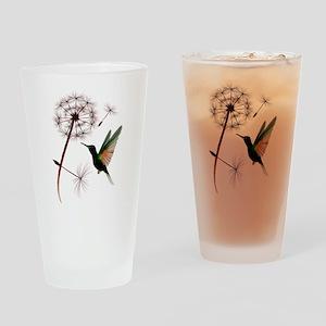 Dandelion and Little Green Hu Drinking Glass