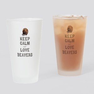 Wood Badge Beaver Drinking Glass