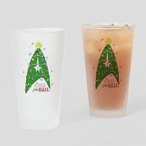 Trek the Halls Drinking Glass