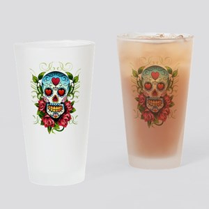 SugarSkull1 Drinking Glass