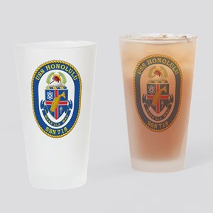 USS Honolulu SSN 718 Drinking Glass