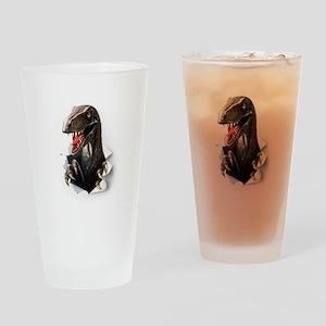Velociraptor Dinosaur Drinking Glass