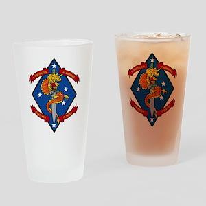 1st Bn 4th Marines Drinking Glass