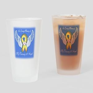 Trisomy 13 Angel boy Drinking Glass