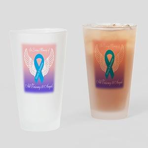Trisomy 18 angels Drinking Glass