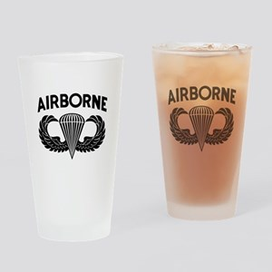 Jump Wings Stencil Drinking Glass