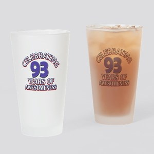 Celebrating 93 Years Drinking Glass