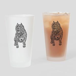 American Bully Dog Drinking Glass