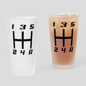 5-speed logo Drinking Glass