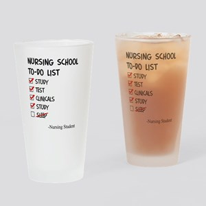 Nursing Student To-Do List Drinking Glass