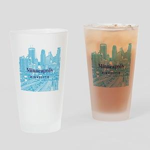 Minneapolis_10X10_v1_Downtown_Blue Drinking Glass