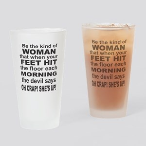 Oh Crap Devil Drinking Glass