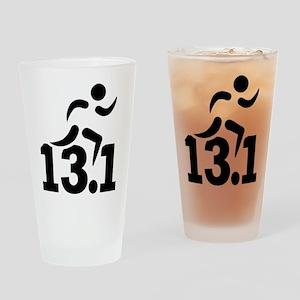 Half marathon runner Drinking Glass