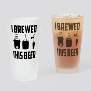 """""""I Brewed This Beer"""" Pint Drinking Glass"""