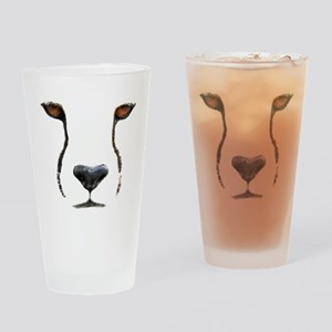 Cheetah Drinking Glass