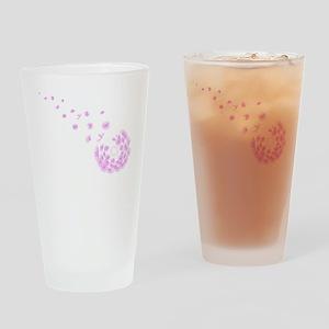 Dandelion pink Drinking Glass