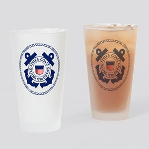 USCG-Logo-3-Enlisted-X Drinking Glass