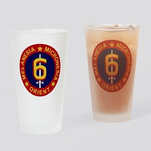 6th Marine Division Drinking Glass