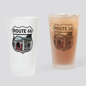 Route 66 - Amblers Texaco Gas Stati Drinking Glass