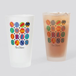 New Orleans Themes Drinking Glass