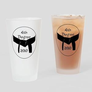 4th dan black belt 2010 Drinking Glass