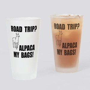 Alpaca My Bags! Drinking Glass