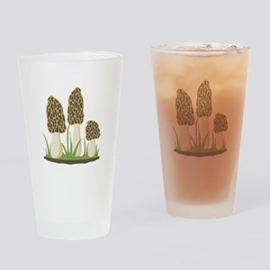 Morel Mushrooms Drinking Glass