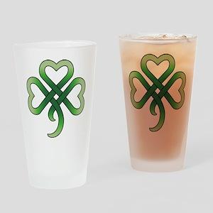Celtic Clover Pint Glass