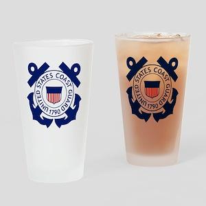 USCG-Logo-2-Blue.gi... Drinking Glass