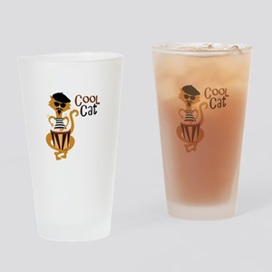 Cool Cat Drinking Glass