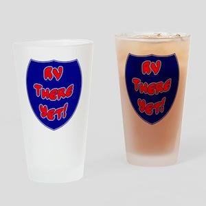 RVThere-HighwaySign Drinking Glass