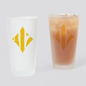 412 White/Gold-W Drinking Glass