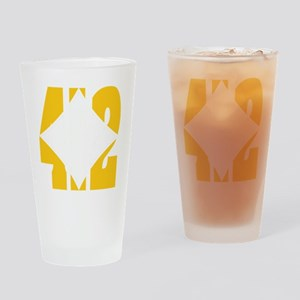 412 Gold/Whilte-D Drinking Glass