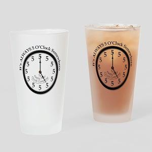 Always5oClock Drinking Glass