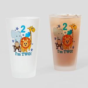 baby2JungleAnimals Drinking Glass