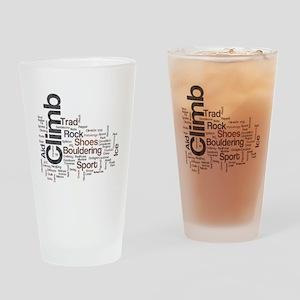 Climbing Words Drinking Glass