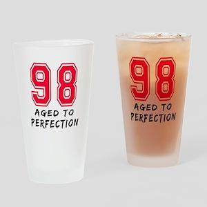 98 Year birthday designs Drinking Glass