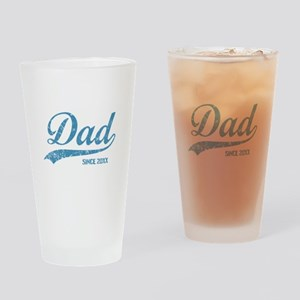 Personalize Dad Since Drinking Glass