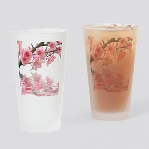 Flowers Water Reflection Drinking Glass