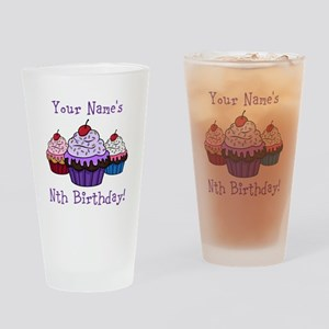CUSTOM Your Names Nth Birthday! Cupcakes Drinking