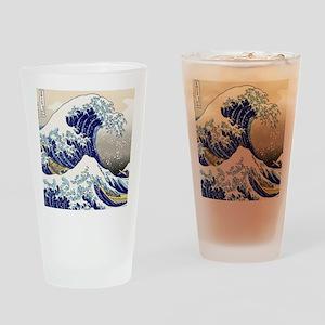 Hokusai_Great_WaveShowerCurtain2 Drinking Glass