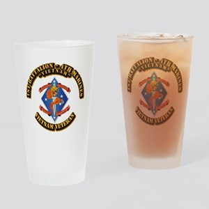 1st Bn - 4th Marines Drinking Glass