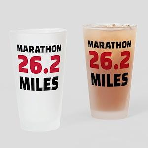 Marathon 26 miles Drinking Glass