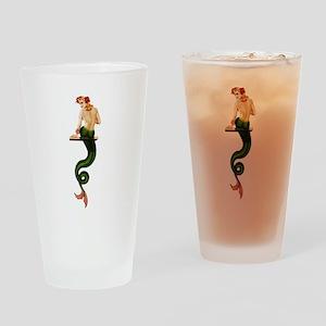 Vintage Pin Up Mermaid ~ Summer Drinking Glass