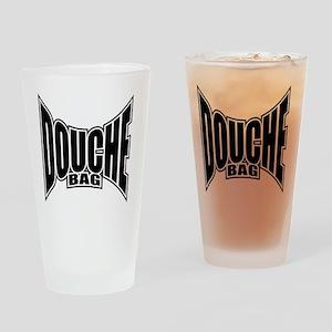 Douchebag T-shirt Drinking Glass