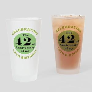 Funny 60th Birthday Drinking Glass