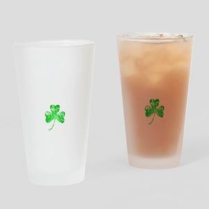 Lucky Shamrock -blk Drinking Glass