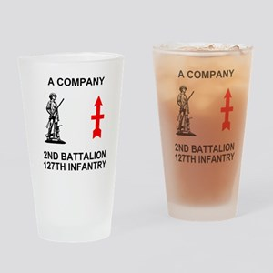 ARNG-127th-Infantry-A-Co-Shirt-4-Bl Drinking Glass